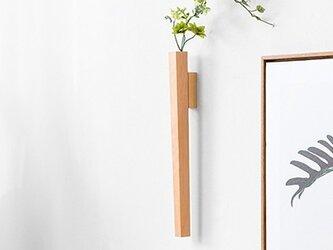 受注生産 職人手作り 一輪挿し 壁掛け リビングルーム 北欧スタイル 木製 木工 天然木 シンプル 無垢材 エコ 木目の画像