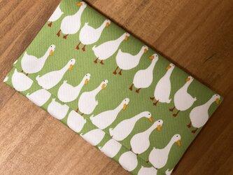 懐紙、通帳いれ Duck light greenの画像