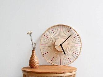 受注生産 職人手作り 壁掛け時計 木製 時計 インテリア 木製雑貨 おうち時間 バンブー 竹細工 木目 エコ LR2018の画像