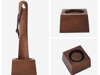受注生産 職人手作り 靴べら 木製雑貨 北欧モダン スタンド付き 天然木 ケヤキ ウォールナット 無垢 木目 木工 エコの画像