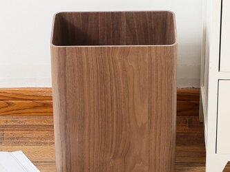 受注生産 職人手作り ダストボックス ゴミ箱 浴室 オフィス ペーパーバスケット 天然木 木目の画像