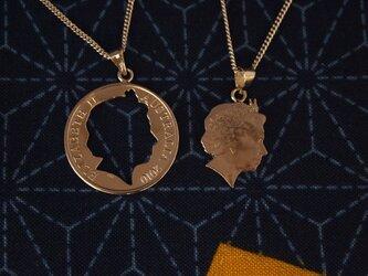 コイン・ペア・ペンダント オーストラリア10㌣、の画像