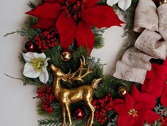 特大☆豪華なシャンデリアクリスマスリース(40センチ)の画像