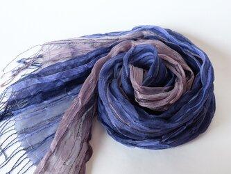 手織りシルクストール【淡月*08】の画像