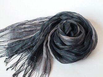 手織りシルクストール【淡月*10】の画像