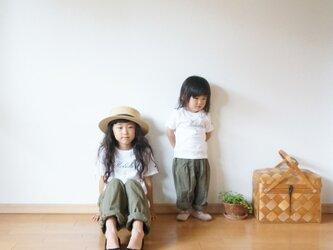 Cotton antique tuck pants KHAKI kids 1(80cm~),2(100cm~)sizeの画像
