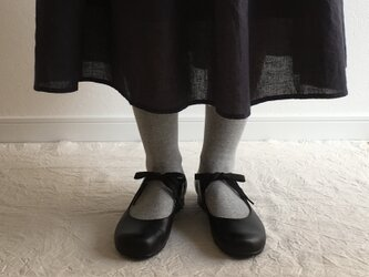 maru(紐結びの革靴*黒)の画像