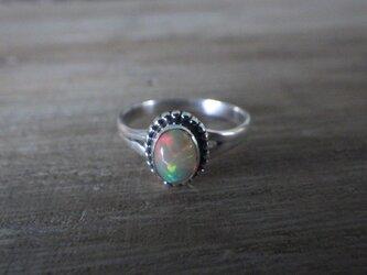*sv925*Rainbow エチオピアオパールのリングの画像