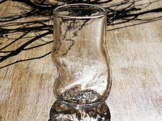 無色透明のグラス - 「KAZEの肌」#350  ● 高さ11cmの画像
