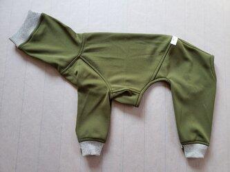 犬服 [受注生産]ウィペット用フルスーツ カーキーの画像