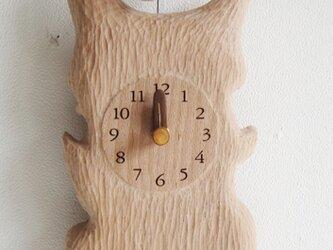 リス君とドングリ 振り子掛・置き時計の画像