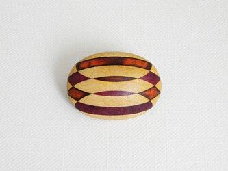 ブローチ -メープル・ココボロ・パープルハート楕円-の画像