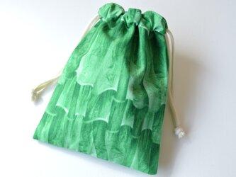 リアルプリント フリル柄・巾着袋【 Simple 】の画像