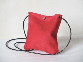 ハラコの小さいポシェット(赤)の画像