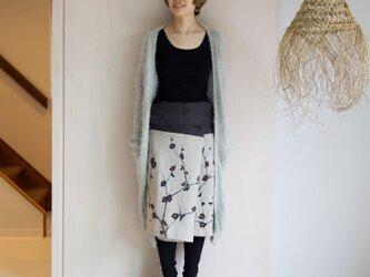 リネン・サロンスカート 梅の画像