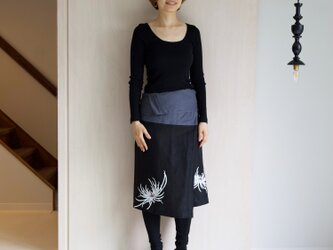 リネン・サロンスカート 乱菊の画像