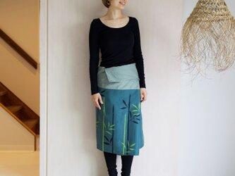リネン・サロンスカート 竹の画像