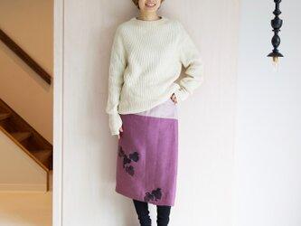 リネン・サロンスカート 葡萄の画像