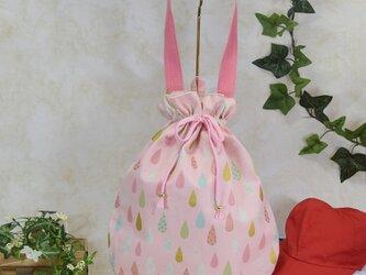 雫《drop》のワンハンドルバッグ・大 (着替え袋・体操着袋):ピンクの画像
