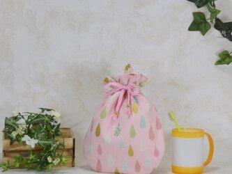 雫《drop》のぷっくり巾着:ピンクの画像