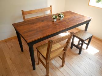 dining table w1600 旋盤(ろくろ)黒脚の画像