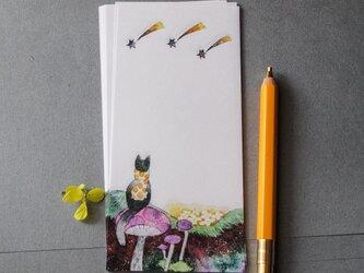 ほしぞら一筆箋/『no.470-04 旅猫』の画像