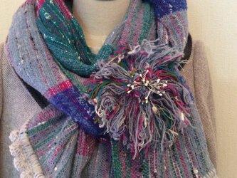♪秋を呼ぶ手織りストールの画像