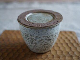 蓋付きカップ 白マットの画像