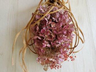 《ラタン》秋色アンティークピンクのスワッグ の画像