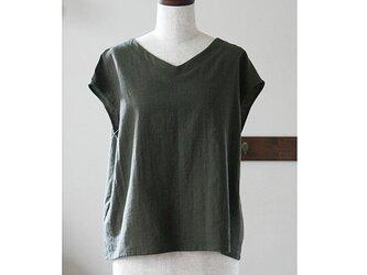 Tシャツ感覚で着られるプルオーバー カーキ(M)の画像
