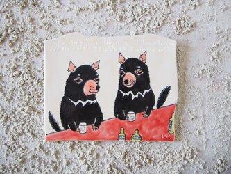 タイルの動物図鑑 タスマニアデビルの画像