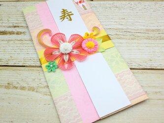 クイリングのお花がお洒落ご祝儀袋 パステルの画像