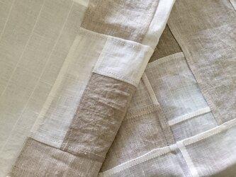 白×ベージュパッチワーククロス 50㎝ Aの画像