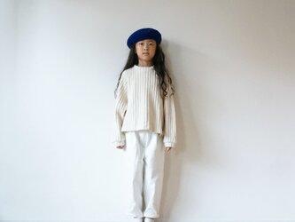Cotton waffle knit kids 3(120cm~)sizeの画像