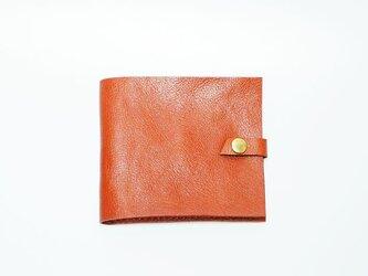 マネークリップ 本革手作り 札・カード入れ 赤茶  プレゼントに♪【受注生産】の画像