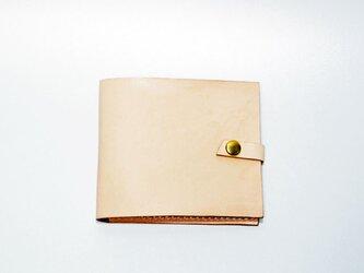 マネークリップ 本革手作り 札・カード入れ ナチュラルヌメ革  プレゼントに♪【受注生産】の画像