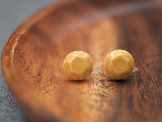 陶器のジュエリー型イヤリング / 黄色の画像