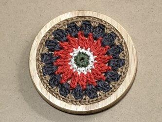 ☘️木製コースターA*(花)* 1枚の画像