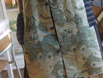 帯と紬からロングベストの画像