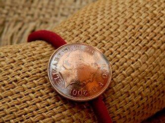 #H4 UK coin Hair Elastic(redline)の画像