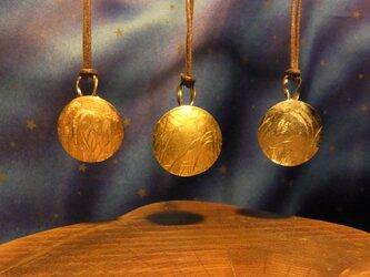 彫金ペンダント、月と秋草3の画像
