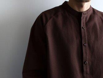 cotton flannel/raglan shirt/brown/size2(MAN)の画像