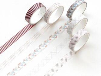 【黄昏】5巻セット マスキングテープ WashiTape 手帳日記DIY素材の画像