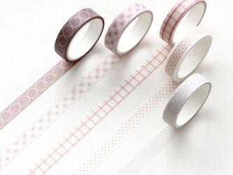 【樱花】5巻セット マスキングテープ WashiTape 手帳日記DIY素材の画像