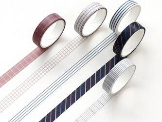 【雨露】5巻セット マスキングテープ WashiTape 手帳日記DIY素材の画像