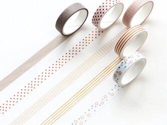 【秋叶】5巻セット マスキングテープ WashiTape 手帳日記DIY素材の画像