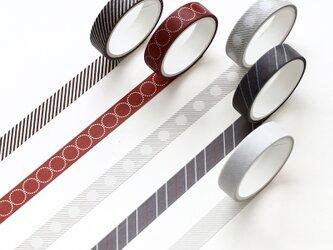 【日落】5巻セット マスキングテープ WashiTape 手帳日記DIY素材の画像