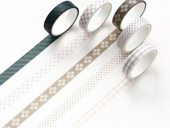 【松枝】5巻セット マスキングテープ WashiTape 手帳日記DIY素材の画像