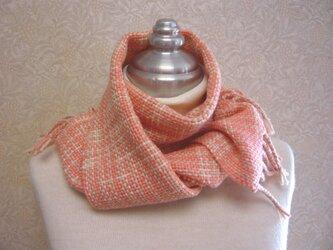 草木染毛糸の手織りマフラー M-106の画像