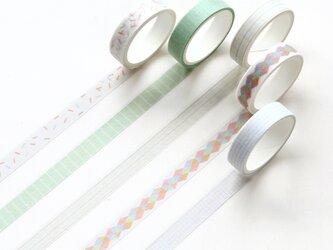 【云影】5巻セット マスキングテープ WashiTape 手帳日記DIY素材の画像